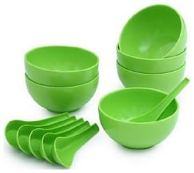 SOUP BOWL SET OF 12 (6 SPOON & 6 BOWL)