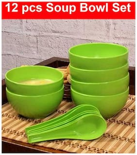 SOUP BOWL SET OF 12 (6 SPOON & 6 BOWL ) SUPERTEXON
