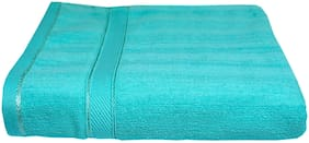 SPACE FLY 450 GSM Cotton Bath towel ( 1 piece , Green )