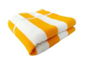 SPACE FLY Cotton Bath towel - 1 pc , Yellow