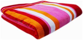 SPACE FLY 400 GSM Cotton Bath Towel ( 1 Piece , Pink )
