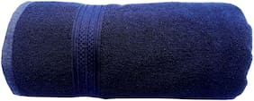 Space Fly Plain Cotton Bath Towels Highly Absorbent, Big Size 30X60 inch (450GSM_Dark Blue_1 Piece)