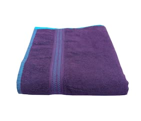 Space Fly Plain Cotton Bath Towels Highly Absorbent, Big Size 30X60 inch (450GSM_Multi Color_1 Piece)