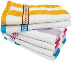 SPACE FLY 300 GSM Cotton Hand towel ( 6 pieces , Multi )
