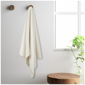 Spaces 450 gsm GSM Cotton Bath towel ( 1 piece , Off-white )