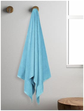 Spaces 450 gsm GSM Cotton Bath towel ( 1 piece , Blue )