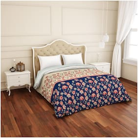 Spaces Atrium Plus Floral Blue 1 Double Quilt