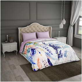 SPACES Calli Art White & Purple 1 Comforter
