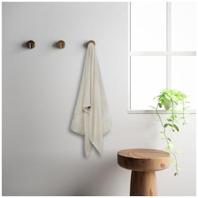 Spaces 450 gsm GSM Cotton Bath towel ( 1 piece , White )