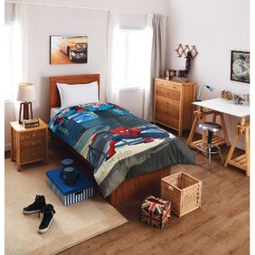 SPACES Marvel Blue   1 Single Comforter