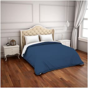 Spaces Hygro Blue Solid 1 Double Comforter