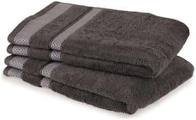 Spaces 600 GSM GSM Cotton Hand Towel ( 2 Pieces , Grey )