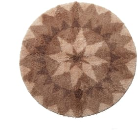 Spaces Intensity Beige & Brown Round 1 Rug Circle