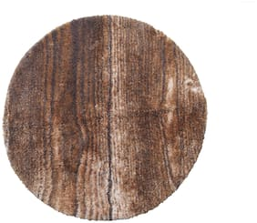Spaces Intensity Brown & Beige Round 1 Rug Circle