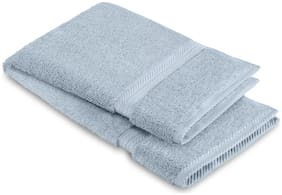 Spaces 608 GSM GSM Cotton Hand Towel ( 1 Piece , Blue )