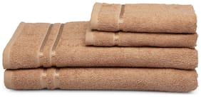 Spaces Season Best Brown 2 Bath Towel And 2 Hand Towel