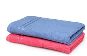 SPACES Season Best Blue & Pink 2 Bath Towel
