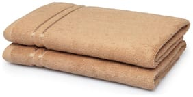 Spaces 375 GSM GSM Cotton Bath Towel ( 2 Pieces , Beige )