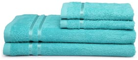 Spaces Season Best Turquoise 2 Bath Towel And 2 Hand Towel