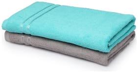 SPACES Season Best Turquoise & Grey 2 Bath Towel