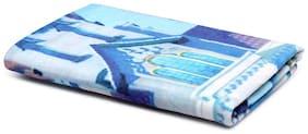 Spaces 380 GSM GSM Cotton Bath Towel ( 1 Piece , Blue )