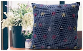 SPACES Spun Black 1 Cushion Cover
