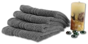 SPACES Swift Dry Grey Face Towel (Set of 4)