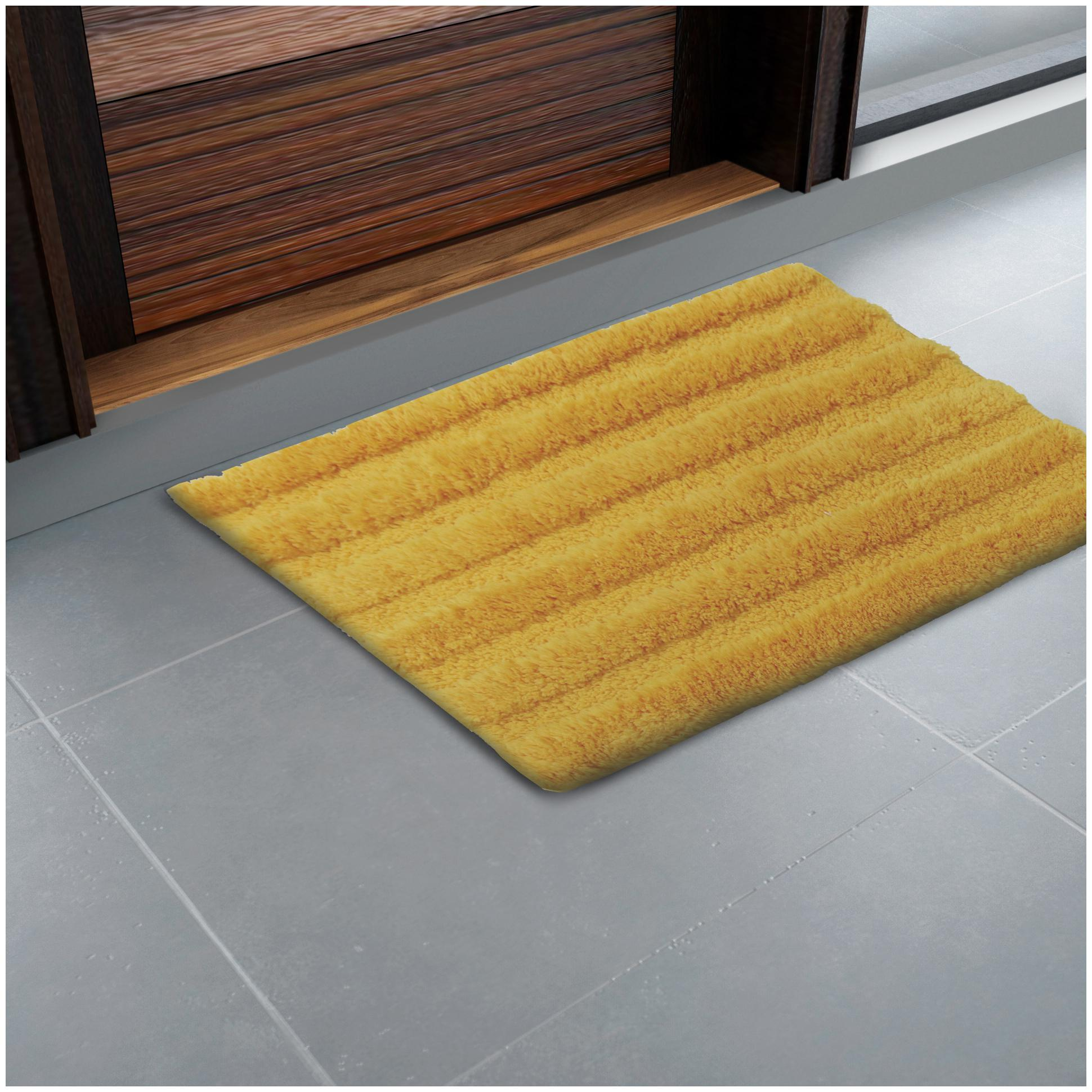 Spaces Swift Dry Yellow Solid 1 Bath Mat by Welspun Global