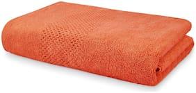 Spaces 450 GSM GSM Cotton Bath Towel ( 1 Piece , Peach )