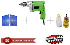 Special Combo Offer Shopper52 Drill Machine With 13pcs Drill Bit Set and 31 pcs toolkit