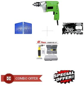 Special Combo Offer Shopper52 Drill Machine With 13pcs Drill Bit Set , Ninja toolkit and 41 pcs toolkit