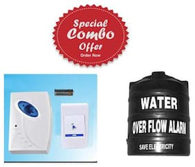 Special Combo Offer Wireless Multi Music Door Bell Alarm and Water Tank Over Flow Alert Alarm Musical Alarm