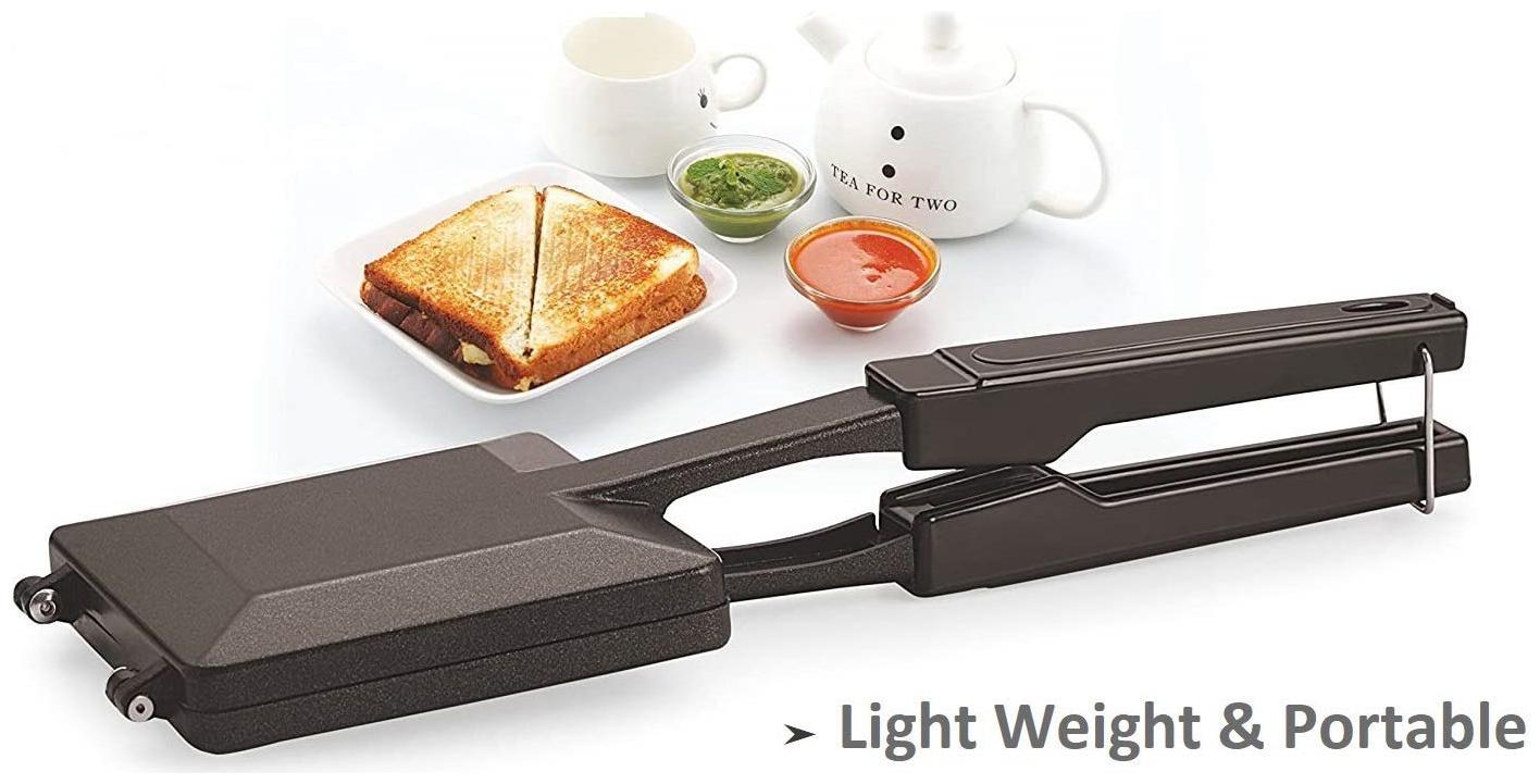 SUPERTEXON Special Gas Toaster Small Sandwich Maker Non Electric Non Stick Coating