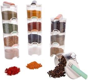 Spice Rack, Masala Storage, Masala Box, Spice Box, Masala Rack, Spice Storage, Spice Jar, Spice Container, Masala Container, Spice Set, Kitchen Rack (Pack of 12,White)