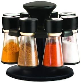 Spice Storage, Masala Storage, Spice Rack, Masala Box, Spice Box, Masala Rack,Spice Jar,Spice Container,Masala Container, Spice Set, Kitchen Rack, Condiment Set Of 8(Black)