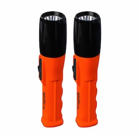 Spicelite JOSH Made in India 1W LED Rechargeable Torch (Black & Red)-Pack of 2