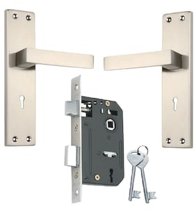 Spider Steel Mortice Door with Satin Silver Finish with 200 mm