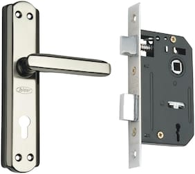 Spider Steel Mortice Key Lock Complete Set With Black Silver Finish