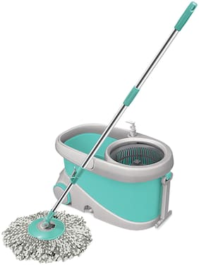Spotzero By Milton Wave Spin Mop;Aqua Green