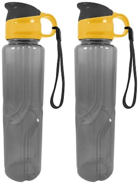 Crafts For You Plastic Grey Water Bottle ( 500 ml , Set of 2 )