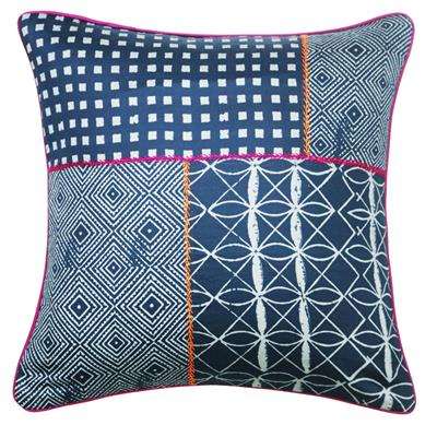 SPUN Dec Cushion Cover Indigo Cotton Set Of 1