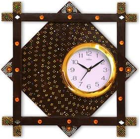RITWIKA'S Brown Wall Clock