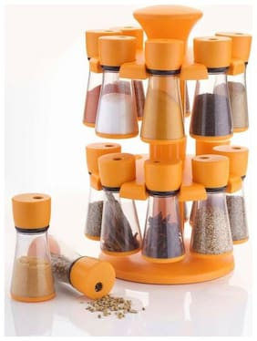 SRK 16-Jar Revolving Spice Rack Masala Box Assorted Colors