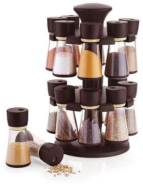 SRK 16-Jar Revolving Spice Rack Masala Box