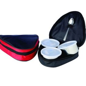 SRK 3 Container Stainless Steel Lunch Box Or Tifin Box With Spoon