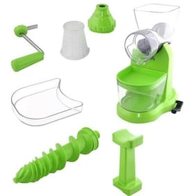 SRK Pro-Grand Fruit & Vegetable Hand Juicer Mixer with Waste Collector, Green