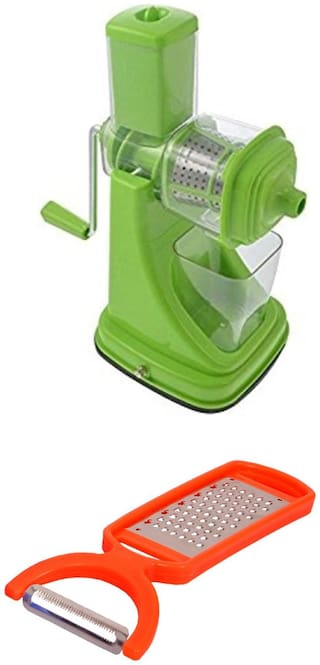 SRK Kitchen Combo Super Deluxe Fruit Juicer Assorted Color Free 2 In 1 Grater Cum Peeler