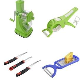 SRK Kitchen Combo Standard Green Fruit Juicer +Multi Vegetable Cutter Cum Peeler + Sumo 3pcs Knife Set + 2 In 1 Peeler/Grater