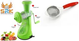 SM Plastic Green Manual juicer Set of 2