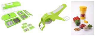 SRK Internationals Stainless steel Vegetable tool Assorted ( Set of 3 )